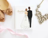 Semi-Custom Bride & Groom Wedding Journal / Note Book / Guestbook