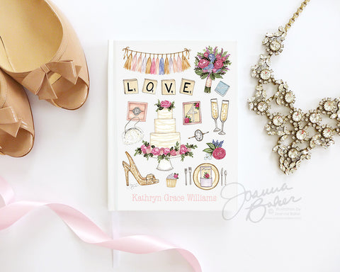 Wedding Favorites Bridal Journal / Notebook / Guestbook