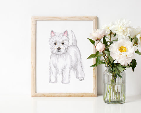 Willow the West Highland Terrier Art Print