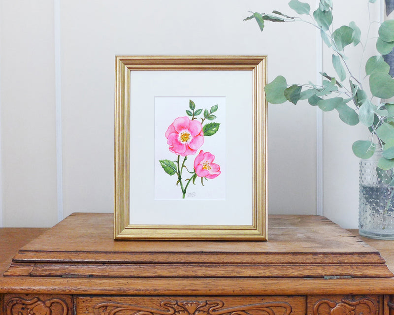 """Wild Rose"" an Original Watercolor Painting"