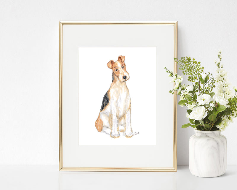 Wallace the Wire Haired Fox Terrier Art Print