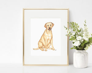 Harley the Labrador Retriever Art Print