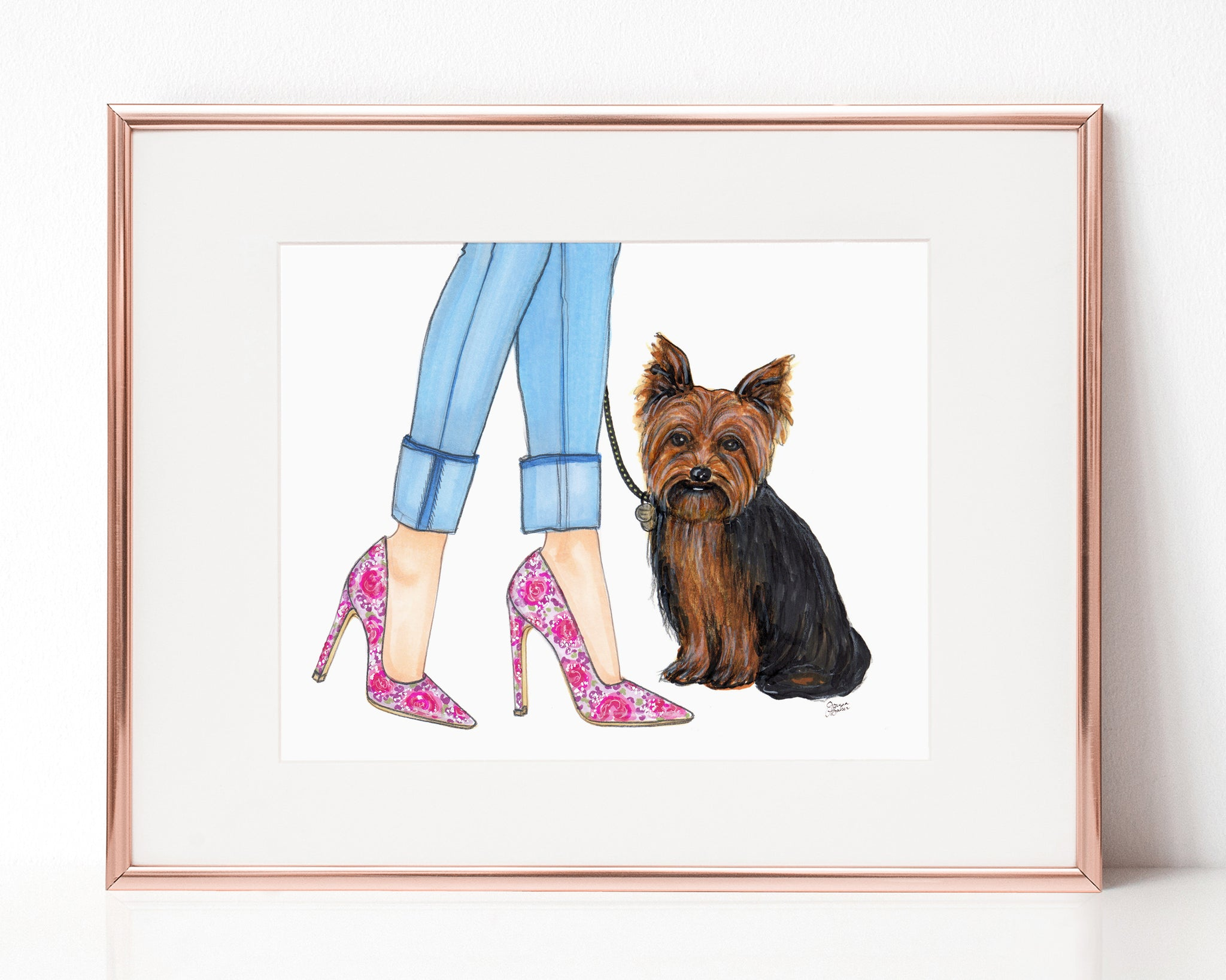 Stella the Yorkshire Terrier Art Print
