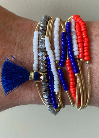 Red Blue White Ermish bracelet