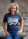 Charcoal Grey Game Day T Shirt