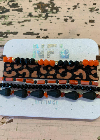 Orange Black Erimish Bracelet