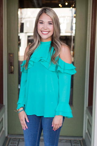 Jade Sleeveless Shirt