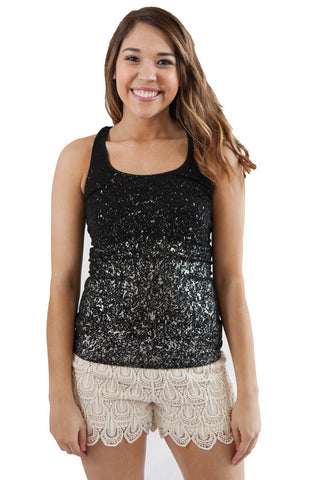 Niki Biki Tank top with Splatter Design One Size Fits Most One Size Fits Most / Silver, Lucky Rhinestone Boutique - 1