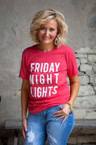 Red Friday Night Lights Tee