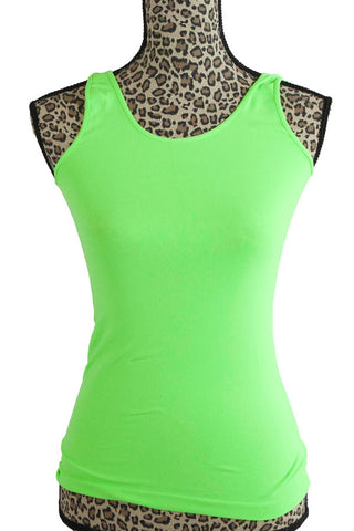 Niki Biki Tanks One Size Fits Most One Size Fits Most / Chartreuse, Lucky Rhinestone Boutique - 9