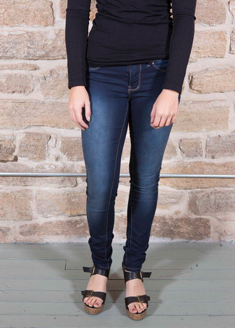Super skinny soft dark denim jeans , Lucky Rhinestone Boutique - 1