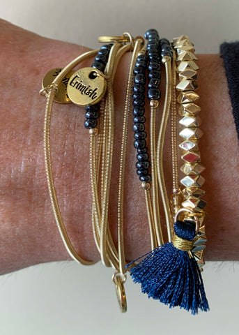 Gold Black Gold Game Day Erimish Bracelet
