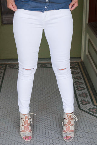 White Sneak Peek Jeans