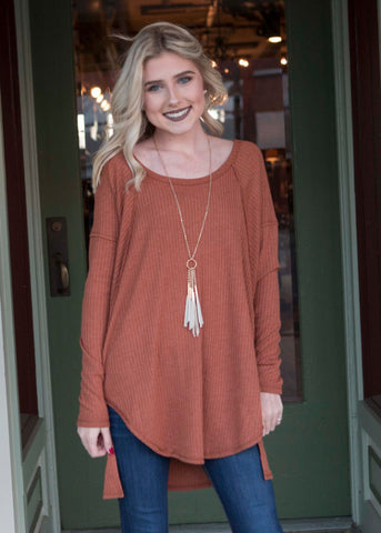 Copper Tunic Top , Lucky Rhinestone Boutique - 1