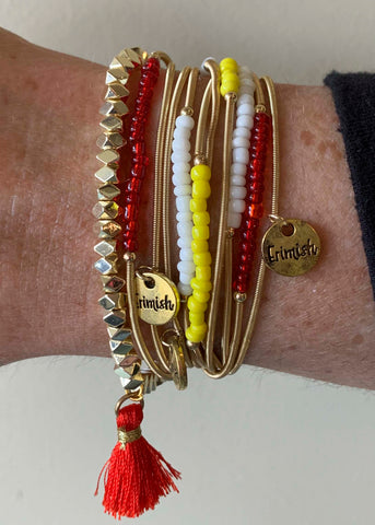 Red Yellow Game Day Erimish bracelets
