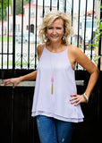 Lilac Double Layer Tank Top
