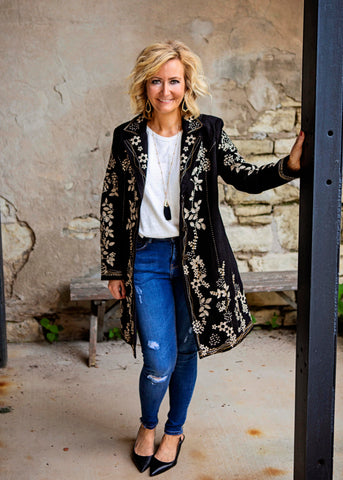 Black Jacket With Embellishment