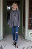 Gray Cowl Nick Sweater