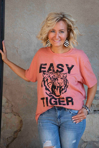 Orange Easy Tiger Tee