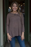 Mocha Long Sleeve Tunic