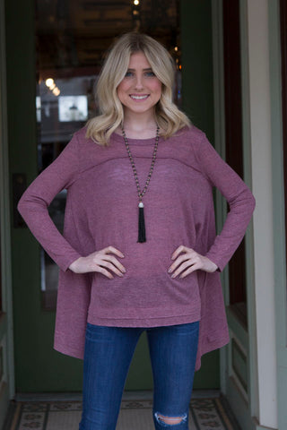 Wine Long Sleeve Tunic