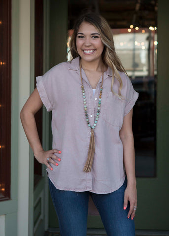 Blush Tencel Shirt