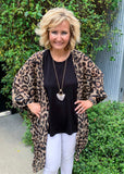 Cheetah 3/4 Sleeve Cardigan