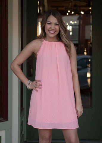 Peach Sleeveless Dress