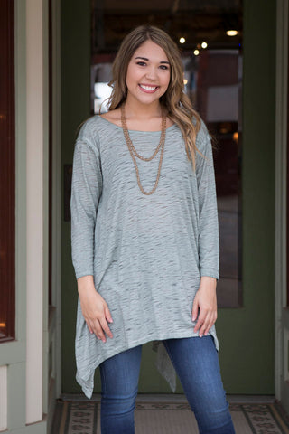 Sage Tunic with Criss Cross Back Cutout