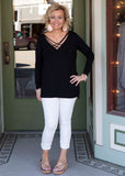 Black Long Sleeve With Criss Cross