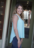 Strappy Back Tank Mint Green