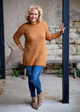 Coffee Long Sleeve Round Neck Sweater