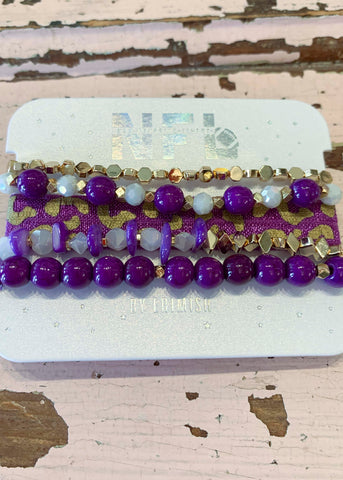 NFL Purple Gold Gameday Bracelet