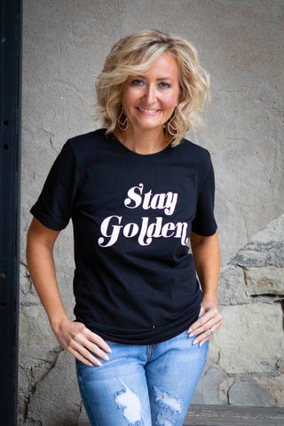 Black Stay Golden Tee