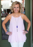 Petal Pink Double Layer Tank Top