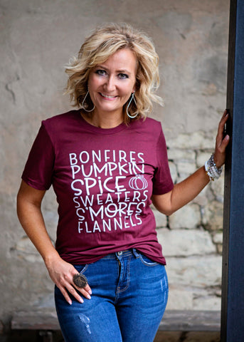 Bonfires Pumpkin Spice T Shirt