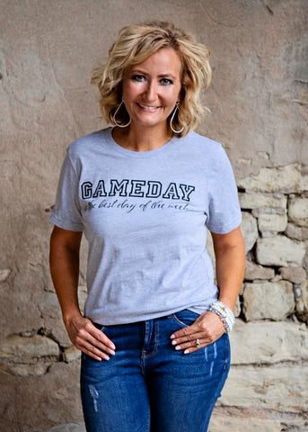 Heather Grey Game Day / Best Day T Shirt