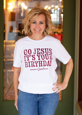 White Jesus Birthday Shirt