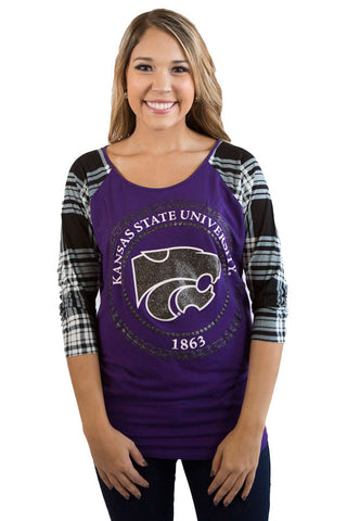 KSU Wildcats Dolman Raglan Top , Lucky Rhinestone Boutique - 1