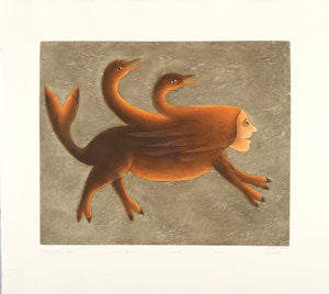 TRANSFORMATION IN FLIGHT - Northern Expressions | Mary Pudlat - Print | | Canadian Indigenous & Inuit Art
