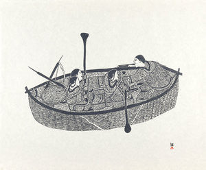 JOURNEY BY UMIAQ - Northern Expressions | Napachie Pootoogook - Print | | Canadian Indigenous & Inuit Art