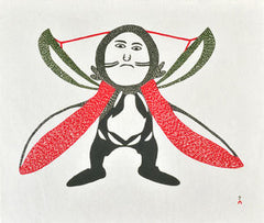 SHAMAN POSSESSED - Northern Expressions | Ohotaq Mikkigak - Print | | Canadian Indigenous & Inuit Art