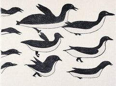FLOCK OF BIRDS - Northern Expressions | Ohotaq Mikkigak - Print | | Canadian Indigenous & Inuit Art
