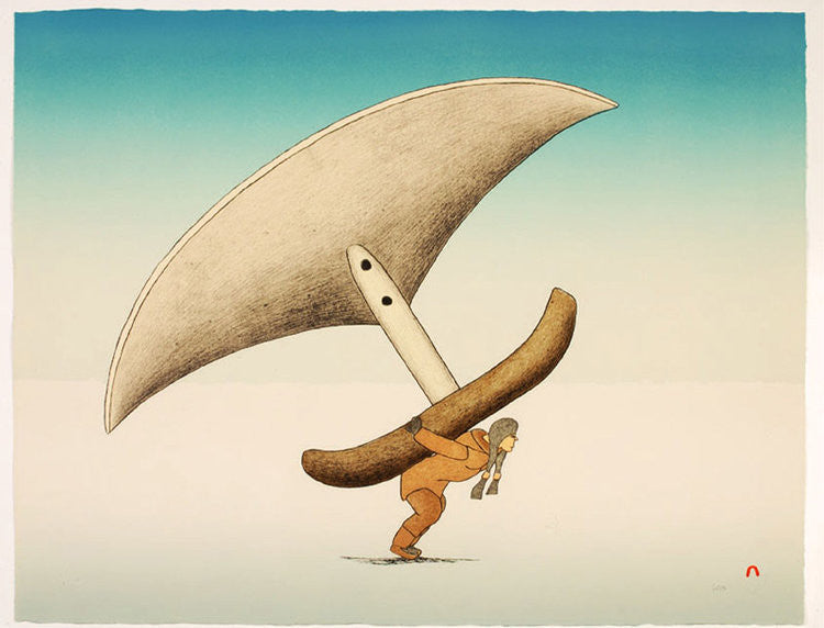 INUGAGULLIGAQ (LEGEND OF THE LITTLE PEOPLE) - Northern Expressions | Qavavau Manumie - Print | | Canadian Indigenous & Inuit Art