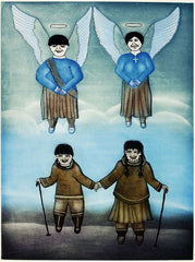 ANGELS BECKON - Northern Expressions | Kumwartok Ashoona - Print | | Canadian Indigenous & Inuit Art