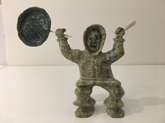 Drum Dancer - Northern Expressions | Pootoogook Jaw - Carving | | Canadian Indigenous & Inuit Art