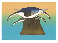 WALRUS PERCH - Northern Expressions | Kakulu Saggiaktok - Print | | Canadian Indigenous & Inuit Art