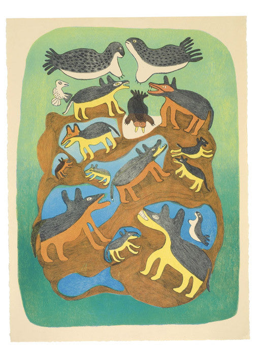 ARCTIC MENAGERIE - Northern Expressions | Meelia Kelly - Print | | Canadian Indigenous & Inuit Art