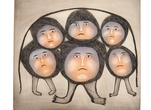 THE WALKING HEADS - Northern Expressions | Ohotaq Mikkigak - Print | | Canadian Indigenous & Inuit Art