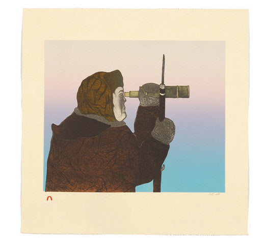 FOCUSED HUNTER - Northern Expressions | Pitaloosie Saila - Print | | Canadian Indigenous & Inuit Art